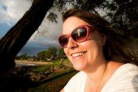w okularach przeciwsłonecznych